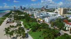 Aerial video Ocean Drive Miami Beach 4 Stock Footage