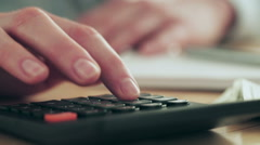 Accountant Using a Calculator - stock footage
