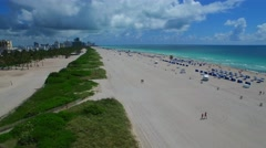 Aerial Miami Beach dunes 4k Stock Footage