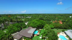 Aerial Pinecrest FL 2 Stock Footage