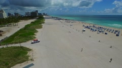 Aerial Miami Beach ocean rescue Stock Footage