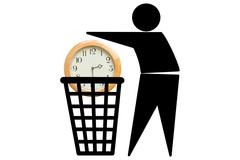 Wasting time concept Stock Illustration