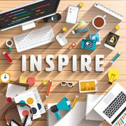 Text Inspire Stock Illustration