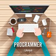 Programming - stock illustration