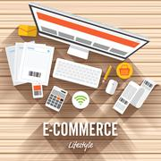 E-Commerce Stock Illustration