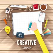 Creative Desktop Stock Illustration