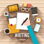 Writing - stock illustration
