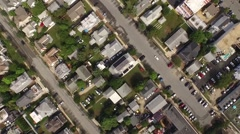 Small Town USA Diagonal Stock Footage