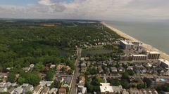 Beach Town USA 360 Stock Footage