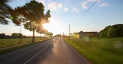 Driving a car - POV - Road at Sunset - Part 3 of 8 Stock Footage