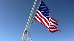 flag whipping in the wind - stock footage