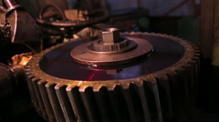 mechanism, gears and oil - stock footage