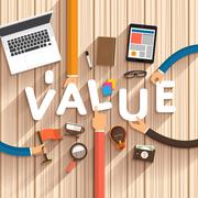 Value - stock illustration