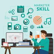 Marketer Skill Stock Illustration