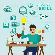 Creative Skill - stock illustration
