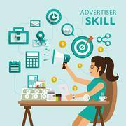 Advertising Skill - stock illustration