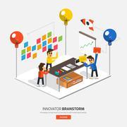 Brainstorm Innovative Stock Illustration