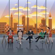 Business work place Stock Illustration