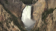 Yellowstone NP Grand Canyon river Lower Falls 4K Stock Footage