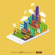 Stock Illustration of Mobile City