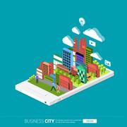 Mobile City Stock Illustration