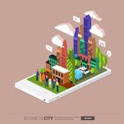 Mobile City - stock illustration