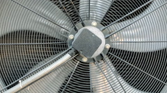 Slow Industrial Air Conditioning Fan Rotating Stock Footage