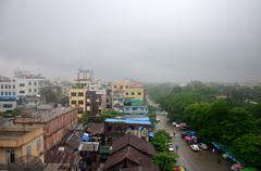 Cityscape of Mandalay city while rainning time in Mandalay, Myanmar Stock Photos