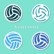 Volleyball ball labels Piirros