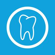 Tooth sign icon Stock Illustration