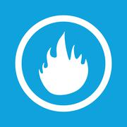 Fire sign icon Piirros