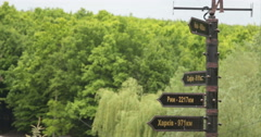 Sun Valley Signs In Sonyachna dolyna Ukraine Stock Footage