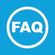 FAQ sign icon - stock illustration
