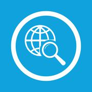 Global search sign icon - stock illustration