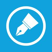 Ink pen nib sign icon Stock Illustration