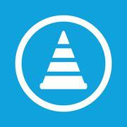 Traffic cone sign icon - stock illustration