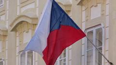 Czech Republic Flag Waving Stock Footage