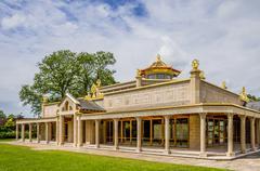 Buddist temple at Conishead Priory, Ulverston. - stock photo