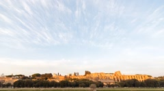 Ruins of Palatine hill palace in Rome, Italy. Time Lapse. 1280x720 Stock Footage
