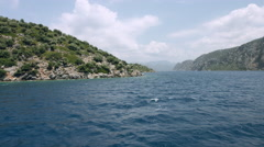Heaven Horizon Blue Seascape. Aegean Islands Stock Footage