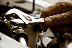 Auto repair concept Stock Photos