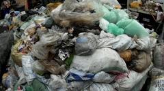 Market Garbage Dump Stock Footage