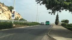 Haifa - freud Road Stock Footage