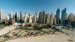 Aerial View Jumeirah Beach Residences Stock Footage