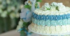 Restaurant. Wedding cake. Stock Footage