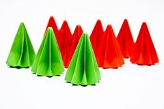 Origami units, Difference concept - stock photo