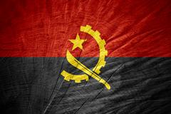 flag of Angola - stock illustration