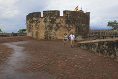 Tourists explore San Felipe Fort  in Puerto Plata, Dominican Republic. Kuvituskuvat