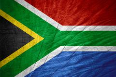 Republic of South Africa flag - stock illustration