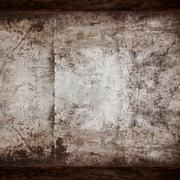 rusty steel background or vintage metal texture - stock photo